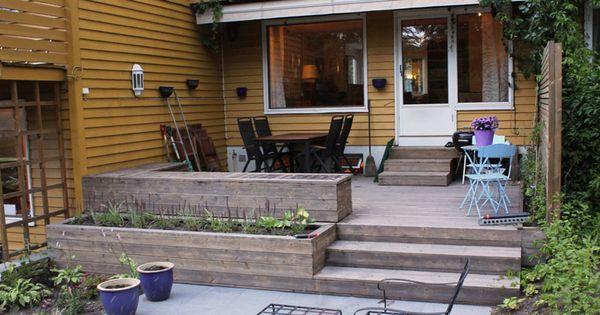terrasse benker plantekasse trapper og espalier i. Black Bedroom Furniture Sets. Home Design Ideas