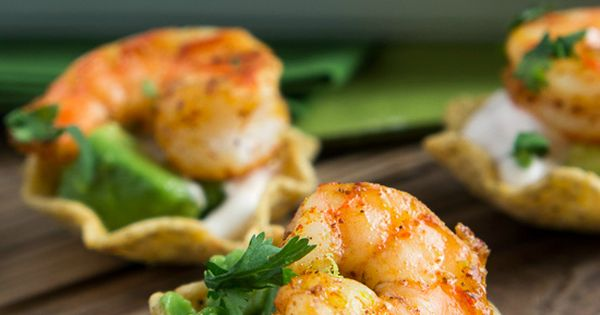 Shrimp Taco Bites Recipe ~ quick and easy... They're super addictive and