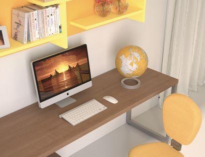 Badroom scrivanie per camerette scrivania lineare con for Cassettiera in metallo ikea