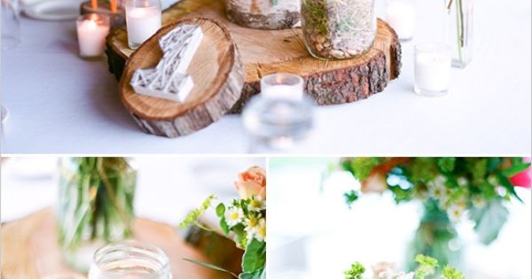 Rustic wedding ideas! I LOVE these centerpieces! wedding design love - for