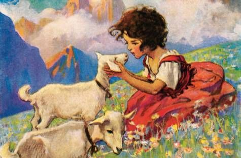 Free Unit Study For Literature Heidi By Johanna Spyri From Home School Lesson Children S Book Illustration Vintage A New Paraphrased