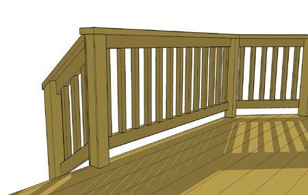 Sweep Space Bottom Deck Rail Deck Railing Height Deck Railings