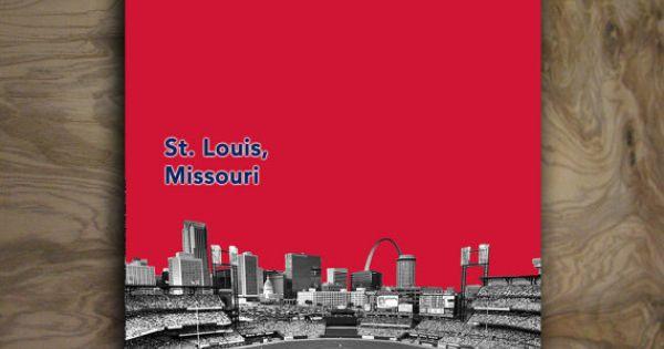 St Louis Cardinals Man Cave Ideas : St louis cardinals art baseball poster mlb man cave