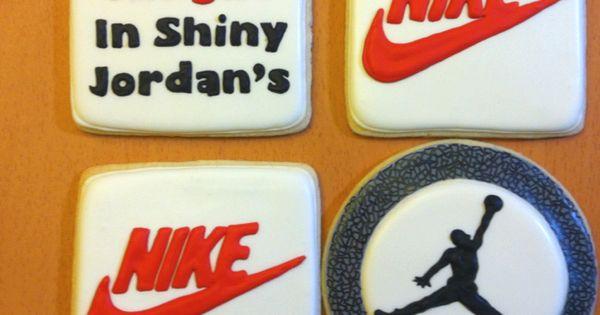 Nike Jordan cookies | food creations | Pinterest | Shoe