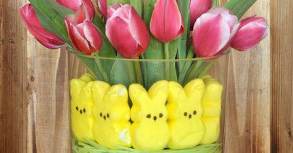 cute tulip centerpiece
