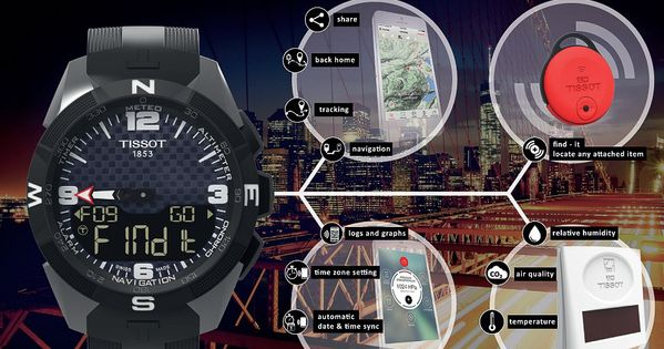 Tissot Smart Touch Watch Merges Connected Technology With T Touch Solar Ablogtowatch Smart Watch Tissot Smart
