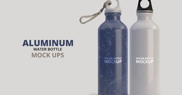 Aluminum Water Bottle Mockup Bottle Mockup Aluminum Water Bottles Water Bottle