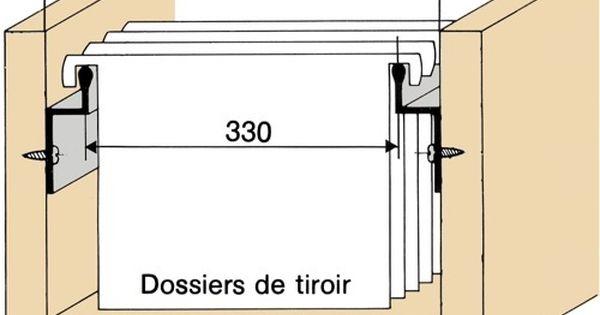 Profil Pour Dossiers Suspendus Sur Cote Rangement Dossier Rangement Dossier Suspendu Dossiers Suspendus