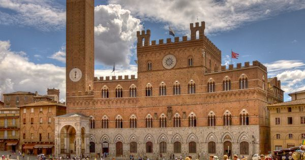 Siena, Italy. Inspiration for the city hall in Copenhagen.