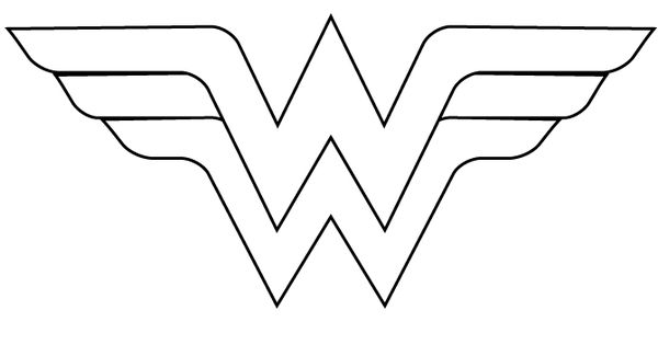 Wonder Woman Logo Template Cut Out Coloring Page Sew