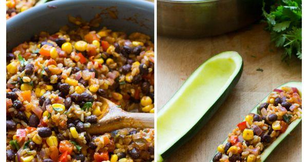 Mexican Zucchini Burrito Boats Recipe Spicy And Pepper