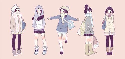 Anime Fashion Girls Winter Outfits Anime Amino Girls Illustration Drawings Art