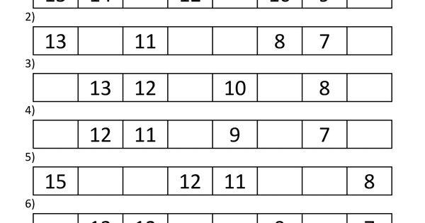 Free Printable Kindergarten Math Worksheets Counting Back