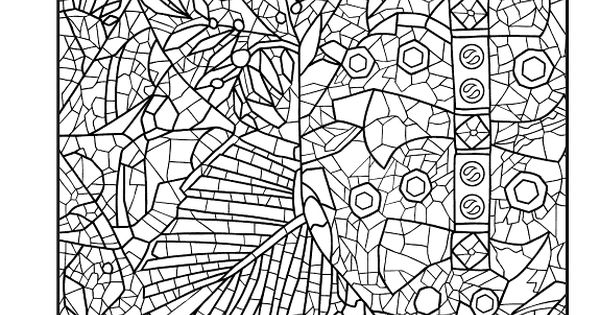 mosaic masterpiece coloring pages - photo#23