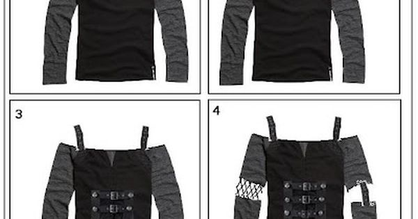 Gothically yours....: Remaking your clothes: Goth DIY | See more about Goth,