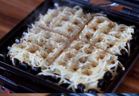 Cook hash browns in a waffle iron for extra crispy goodness. ---