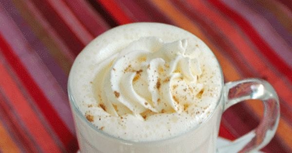 Pumpkin Spiced White Hot Chocolate - so simple. Milk, white chocolate, and