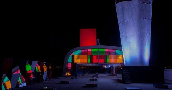 Visione notturna del tetto giardino dell 39 unit d - Le corbusier tetto giardino ...
