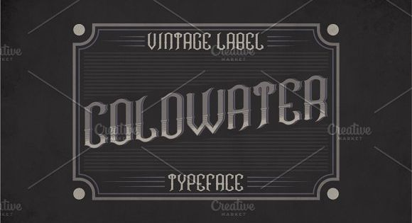 Coldwater Label Typeface – strong and vintage label style