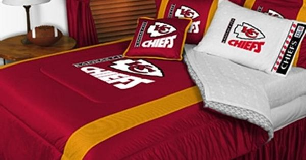 Kansas city chiefs sideline comforter home decor for Home decor kansas city