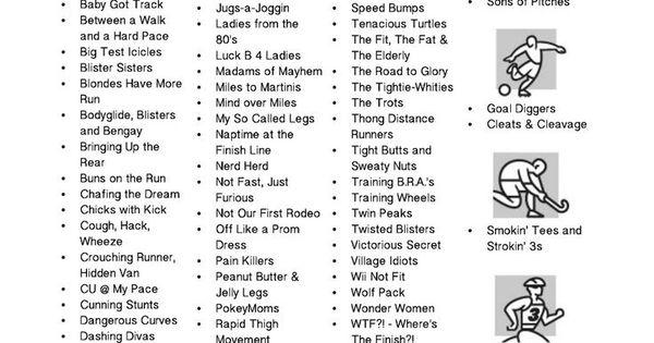 Funny Names List: Funny Team Names