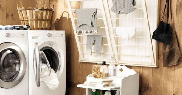 Laundry room drying racks cuarto de lavado pinterest for Cuarto lavanderia