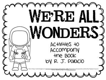 We Re All Wonders Resource Packet Wonder Activities Picture