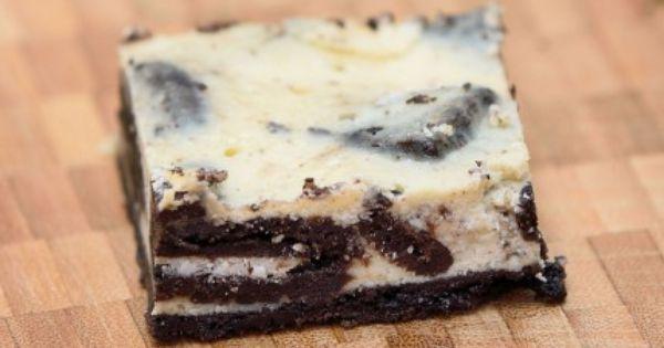 طريقة عمل تشيز كيك الاوريو Recipe Sweet Tooth Recipe Oreo Cheesecake Bars How Sweet Eats