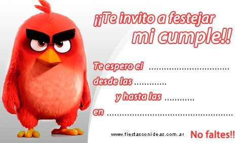 Angry Birds Pájaro Rojo Tarjeta De Cumpleaños Para Imprimir Tarjetas De Cumpleaños Para Imprimir Tarjetas De Cumpleaños Tarjetas De Cumpleaños Infantiles