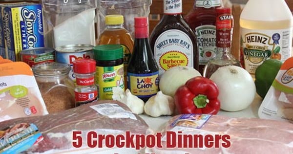 5 Crock Pot Dinners in One Hour! (Hawaiin Chicken, Teriyaki Pork Chops,