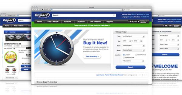 Copart Usa The Source For Online Car Auctions Home Page Car