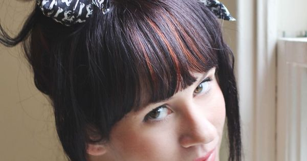 scarf bow on topknot