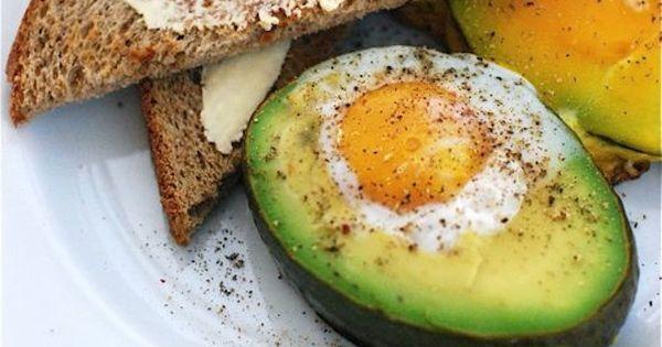baked egg in avocado - quick healthy breakfast