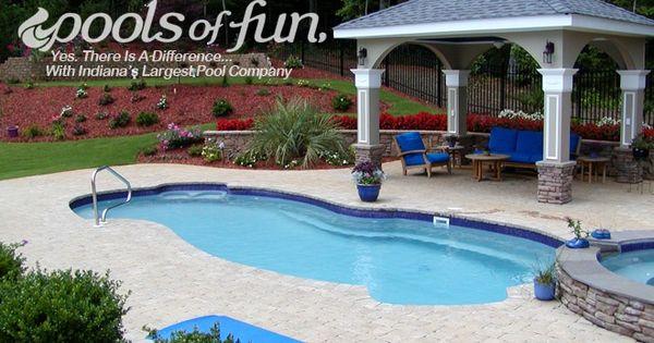 Inground pools photos pools of fun pool area for Easy pool obi