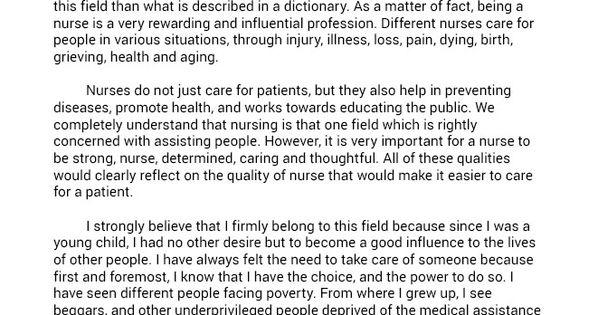 nursing admission essay help