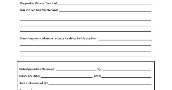 Lovely Employee Transfer form Responsibility for Transfer Actions