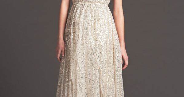 silver sequin wedding dress sarah seven Sarah Seven Fall 2013 Collection Golden