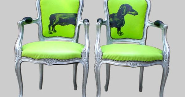 I love these chairs. Such a cute idea to put the weenie