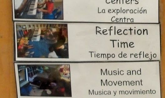 daily schedule  the children help with the daily schedule
