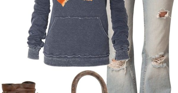 """Weekend casual"" by partywithgatsby ❤ liked on Polyvore - Love the sweatshirt,"