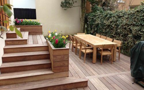 terrasse en bois avec marches et gradins bricolage pinterest terrasses en bois marche et. Black Bedroom Furniture Sets. Home Design Ideas