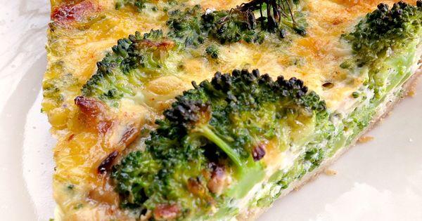 healthy Broccoli Cheddar Quiche