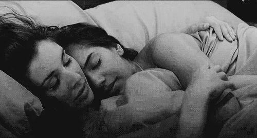 #lesbian couple #love #cuddle #safe   Gay   Pinterest ... Sleeping Position Tumblr