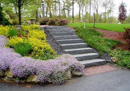 Landscaping A Sloping Driveway : Landscaping for a sloped driveway landscape walkway ideas the house