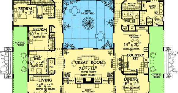 mediterranean house plans with courtyard plan 81384w open courtyard home plan 25111