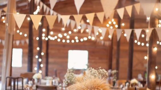 Rustic Indoor String Lights : 100 Stunning Rustic Indoor Barn Wedding Reception Ideas Receptions, Wedding and String lights