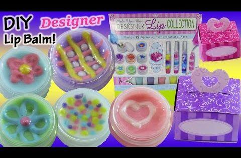 DIY Designer Lip Gloss! Mix Make & Design Your Own Glitter lip Balm! Shopkins Nail Kit! FUN ...