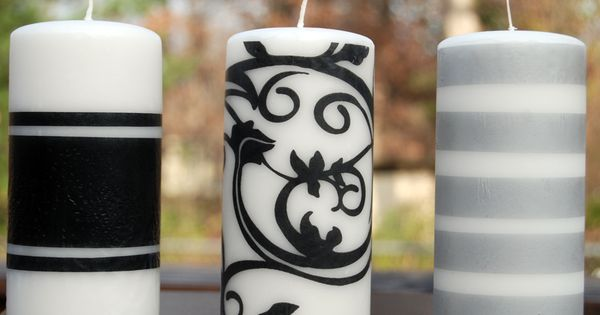 Tissue Paper Candle Craft by Easy Paper Crafts.... monogram some dollar store