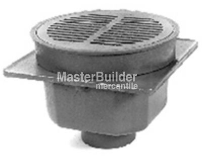 Zurn Z512 Zb512 Zn512 12 Heavy Duty Area Drain With Tractor Grate Masterbuilder Mercantile Inc Iron Body Floor Drains Drains