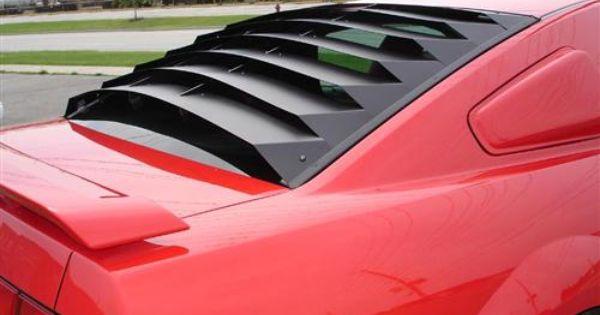 Rear Window Louvers Aluminum Window Louvers Mustang Body Kit Mustang Interior